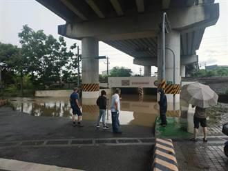 嘉義縣榮林地下道淹水超過1公尺 傍晚水已抽乾