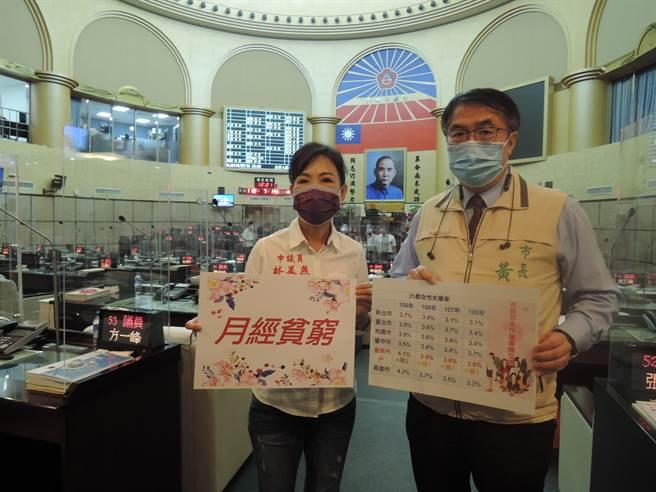 台南市議員林美燕關心月經貧窮議題。(程炳璋攝)