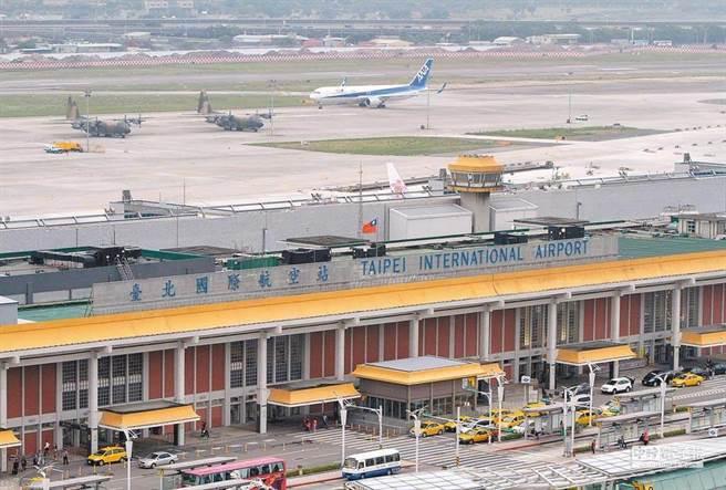 松山機場示意圖。本報資料照。
