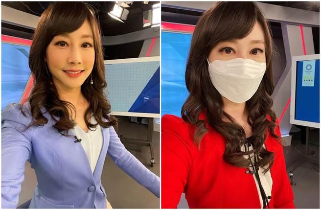 吳宇舒坦言戴上口罩播報好像吸不到氧氣。(圖/吳宇舒臉書)
