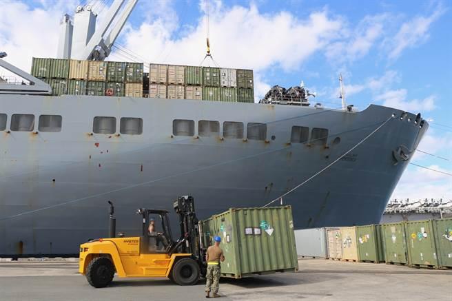 五角大廈批評運輸司令部的兩個大型軍事碼頭存在安全漏洞,使武器面臨被盜的風險。(圖/DVIDS)