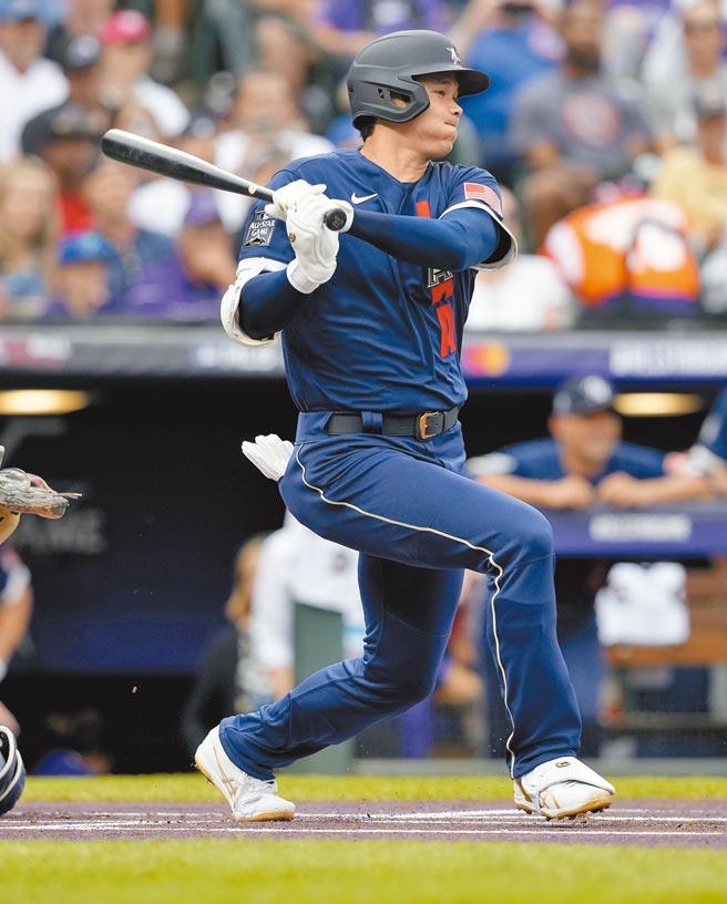 打者大谷擔任美聯明星隊第1棒,可惜兩打數都未敲安。(美聯社)