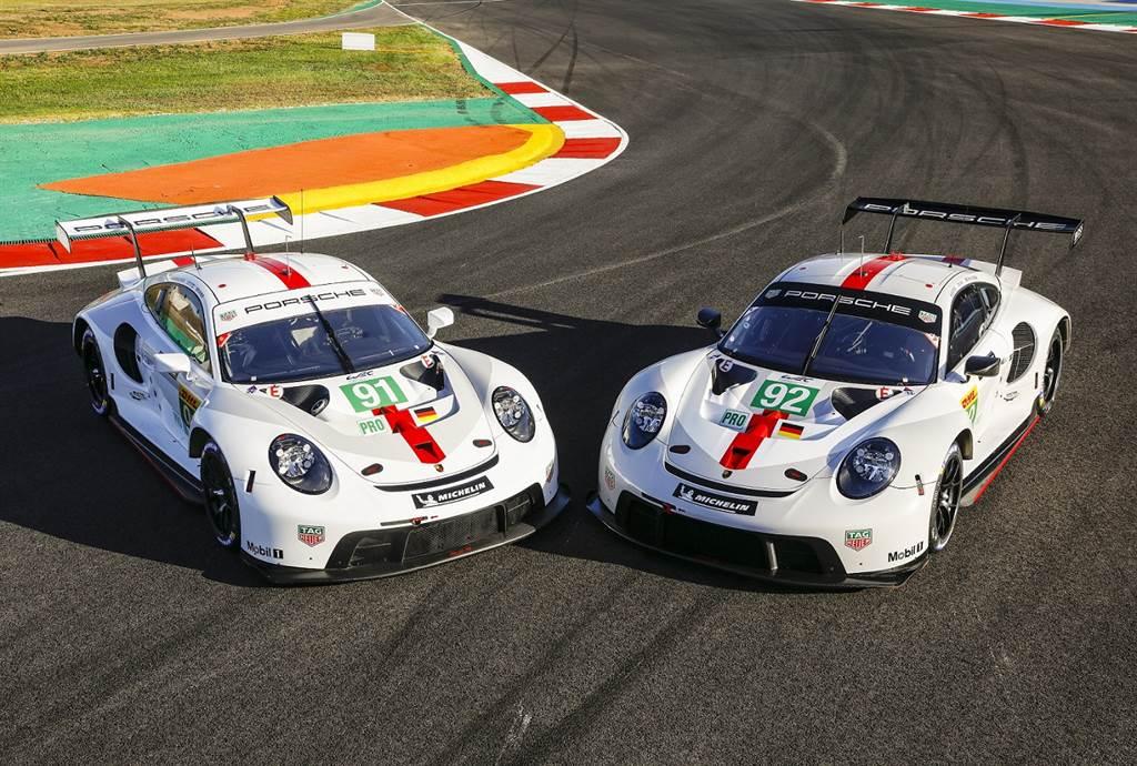 Porsche GT車隊車手Kévin Estre和Neel Jani駕駛92號911 RSR;Richard Lietz和Gianmaria Bruni駕駛91號911 RSR。