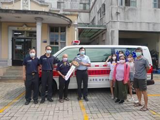 叫救護車救人卻反先昏倒 中市民蕭光彥感念被救捐救護車