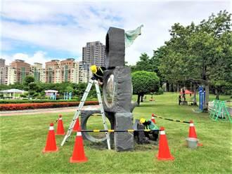 全台首座公立雕塑公園不敵日曬雨淋 台中市府巧手回春