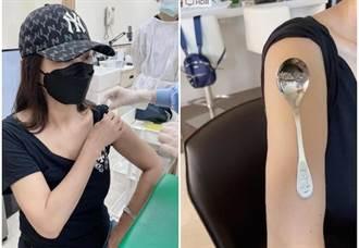 獨/陳美鳳打完疫苗能吸湯匙 手臂放一樣「工具」網驚呆