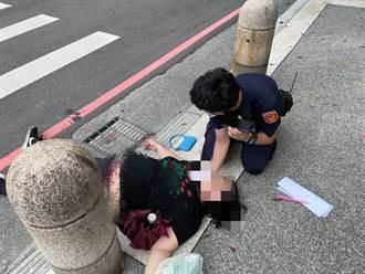 婦人打完莫德納隔日心臟驟停倒三重街頭 派出所長緊急搶回一命