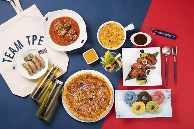 (東奧即將開幕,台北遠東香格里拉飯店外帶推出美式派對雙饗餐。圖/台北遠東香格里拉飯店提供)