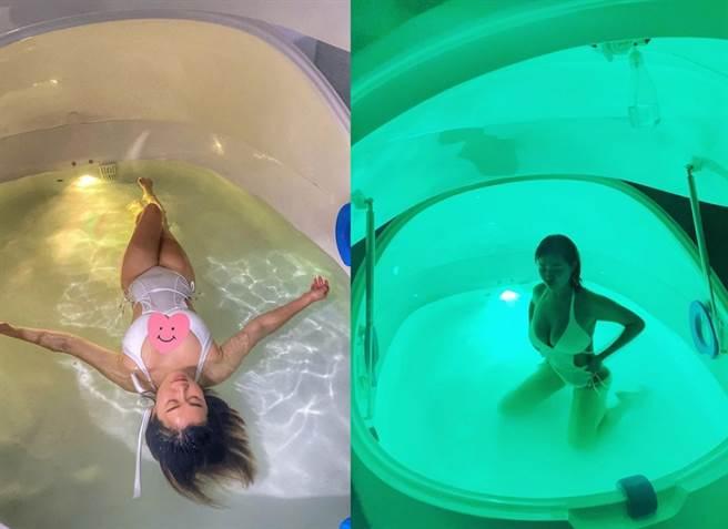 白雲日前分享在水裡拍的性感美照,美暈大票網友。(圖/ 摘自白雲IG)