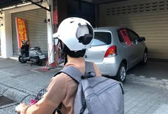 安全帽破大洞照上路 騎士後腦全露網怒:腦袋也有洞?
