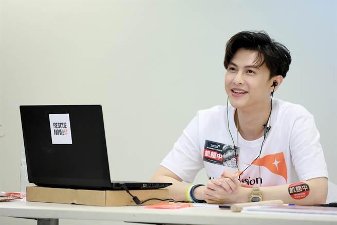 王子參與台灣世界展望會直播活動。(世界展望會提供)