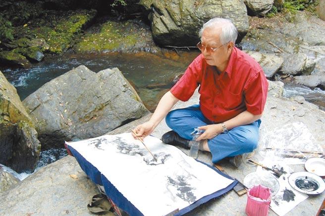 艺术大师欧豪年于赫声艺术教学纪录中,融入山川实境、活泼造境,让学习者犹如亲炙教学般身歷其境。图/赫声行提供