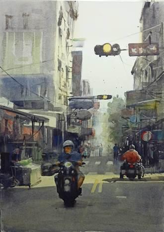 本土畫家謝政憲登美水彩畫藝術雜誌 讓彰化街景躍上國際