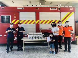 下營新式救護車上線 在地民宿老闆加贈150組防疫護目鏡