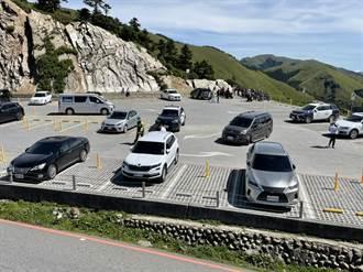 玩命攀爬武嶺停車場山壁 1家5口險被罰