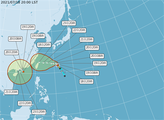 烟花颱風周五恐撲台 最快周二變中颱 警戒範圍曝