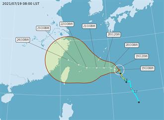 雙颱共舞!烟花最快明變中颱 周三起有機會依序發布海陸警