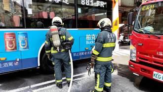台北客運公車輪胎起火  警消迅速撲滅無人受傷