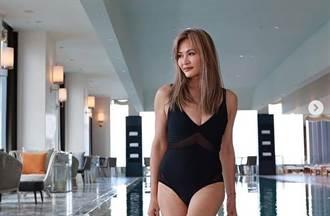香港十大名模身材超好 泳裝辣開中門W形美胸被看光
