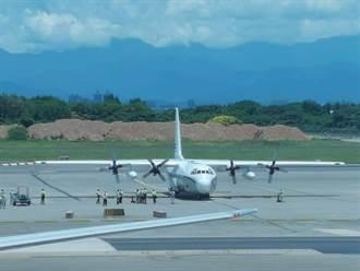 運送AIT新任處長用品 美國C-130運輸機來台