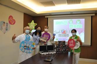 防疫女神賈永婕現身台南市立醫院 贈抗疫神器