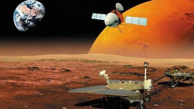 今年9月太陽會運行到地球和火星之間,出現日凌干擾現象,太陽的強烈電磁波會對影響天問一號與地球聯繫,時間長達一個月。(圖/Nature Astronomy)