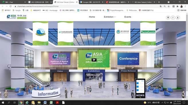 「2021亞洲生技大展」線上展館。(圖/農委會提供)