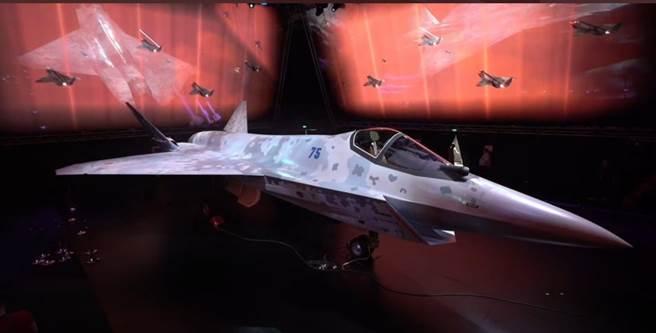 即將在莫斯科2021國際航空航太展覽會開幕式上亮相的俄羅斯新款戰機,據稱將使用最新的土星-30發動機與全新的推力向量控制系統,並具備低可視性雷達隱形能力。(圖/推特@Chaituvarma72)