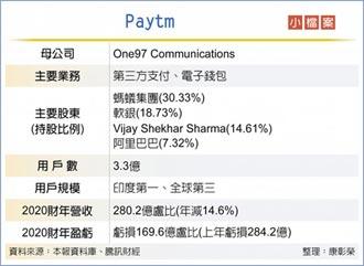 或將被迫減持5%持股 印度Paytm將上市 螞蟻是最大股東