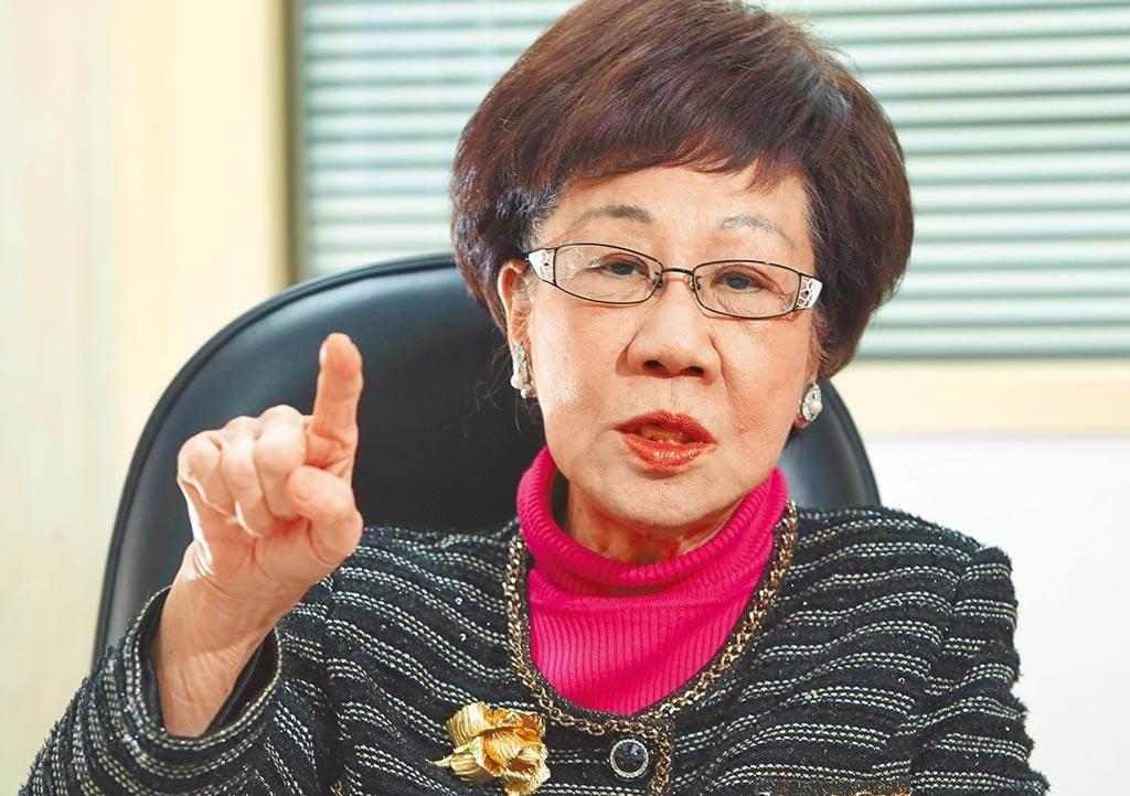 前副總統呂秀蓮。(資料照片)
