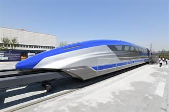 貼地飛行 時速600公里磁浮高速列車青島亮相