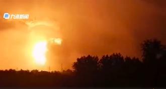 河南登封鋁合金工廠大爆炸蘑菇雲衝天 暫無人員傷亡失聯報告