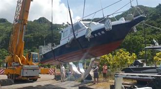 烟花直撲北台灣 基隆近30艘小型遊艇上岸避颱