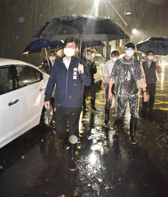 高雄20日晚間多處淹水 陳其邁與水利局研擬對策