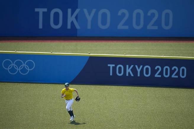 澳洲球員在東京練球。(美聯社)