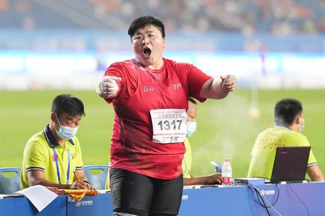女子鉛球鞏立姣要在東京奪金。(澎湃新聞)