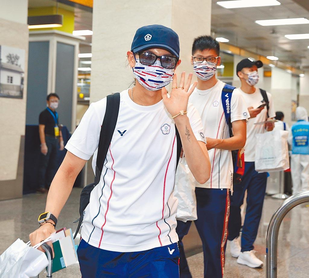 中華奧運代表團19日搭乘2020東京奧運專案班機前往日本,圖為羽球國手戴資穎。(圖/本報系資料照)