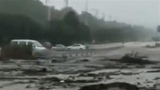受暴雨影響 河南鞏義多處出現山崩土石流 已致4人死亡