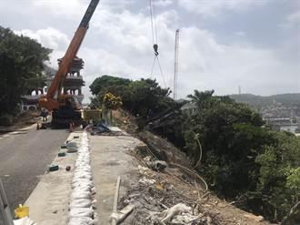 基隆希望之丘工程延宕 邊坡路基流失 鵲橋延至10月動工
