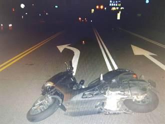台中18歲小情侶雙載夜遊 過彎自摔撞車1死1傷
