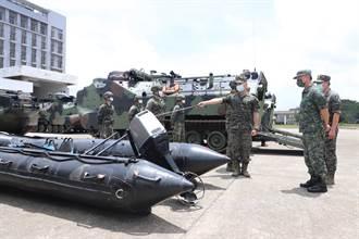 防範烟花颱風來襲 陸軍六軍團AAV7兩棲突擊車進駐待命
