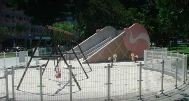 台中知名親子公園周遭竟然有用過的針頭,甚至有小孩在沙坑裡挖到保險套,讓家長非常憂心。(圖/Google Map)