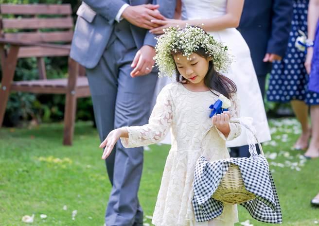 婚禮上不見花童開場,反而出現一名壯漢,邊走進場邊灑鈔票,讓不少人看傻眼。(示意圖/達志影像)