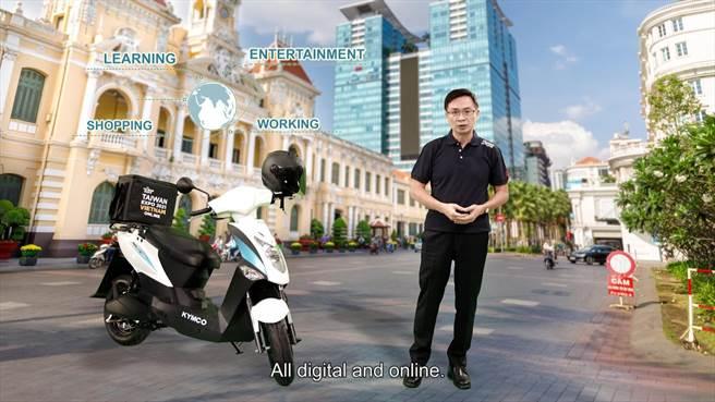 2021越南臺灣形象展開幕典禮,由貿協董事長黃志芳開場。(貿協提供)