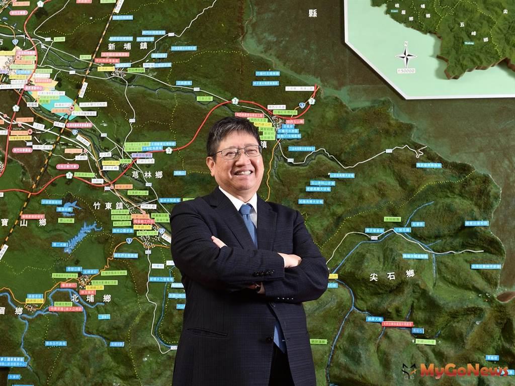 竹北市所得總額平均及中位數雙雙拿下全台第一,楊文科:新竹縣「5支箭+10大交通」建設,帶動長期繁榮。(圖/新竹縣政府)