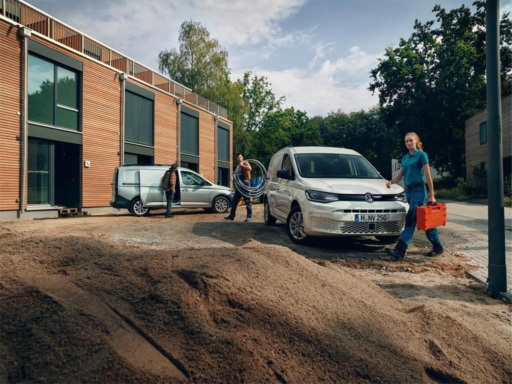 Caddy Cargo採用轎式底盤打造,行駛質感比傳統商用車來得舒適。