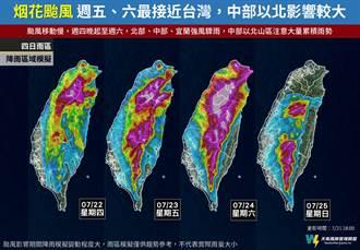 中颱烟花連4天警戒雨區曝 專家:這天最靠近小心致災
