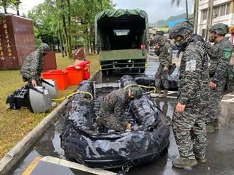 烟花颱風逼近  國軍超前部署進駐易致災地區