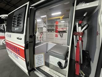 降低救護員染疫風險 善心人士捐台南消防局救護車隔離艙