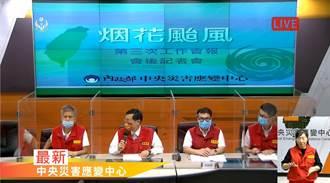 烟花颱風逐步構成威脅 北台灣各單位監測警戒